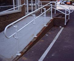 Galvanised cast iron handrail to BS EN ISO 1461