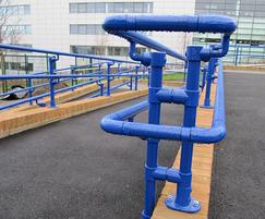 Kee® Access fittings used to create handrail system