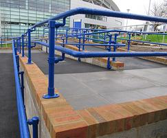 Kee® Access DDA handrail powder-coated blue
