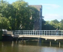 Handrails installed on bridge