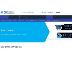 Kee Systems: Kee Systems online shop and Click & Collect services