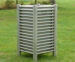 Baseline BL048 open-top stainless steel litter bins