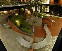 Main courtyard with CL007 curved bench