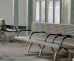 Back-to-back stainless steel external seat