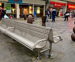 External stainless steel seat, West Bromwich