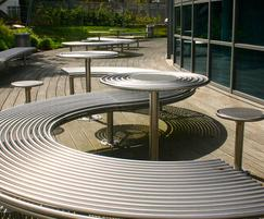 Centerline CL091 circular table with bench