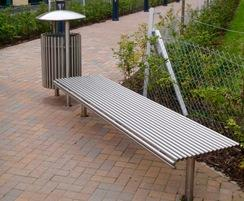 Centerline CL005 steel bench and bin