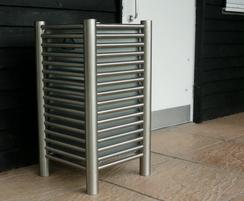 Baseline BL048 open-top stainless steel litter bin