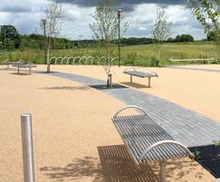 Centerline benches, seating and bollards
