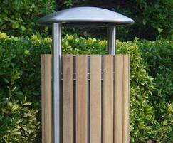 Shoreline SL052 dome-top circular litter bins
