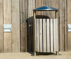 Shoreline SL054 dome-top circular litter bin