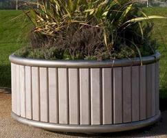 Shoreline SLPL contemporary circular planters
