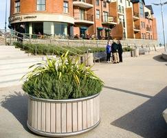 Shoreline SLPL contemporary circular planter