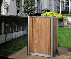 Bespoke Shoreline ltter bin for Trinity Square, London