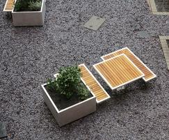 Benchmark Design - Campus seating, tables and planters