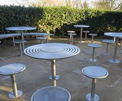 Stainless steel bespoke street furniture from Benchmark