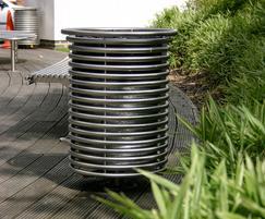 Centerline outdoor stainless steel litter bin