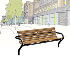 Benchmark street furniture Shoreline seat SL001