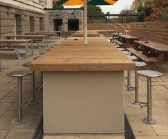 External bar stools - credit: CPMG
