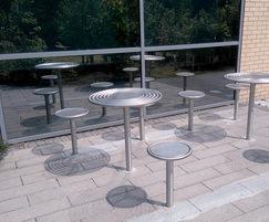 Centerline CL008 stainless steel street bench
