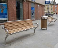 Benchmark street furniture - SL001 seat bench and bin