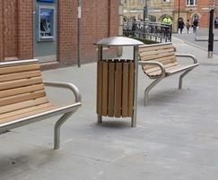 Benchmark street furniture Litter bin
