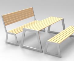 Benchmark Street Furniture - BAR picnic set