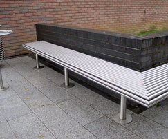 Benchmark street furniture CL005 bespoke bench