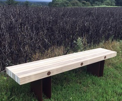 Benchmark Street Furniture Exeter EX005L timber bench