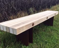Benchmark street furniture - EX005L bench