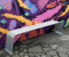 Galvanised BL006 bench From benchmark street furniture