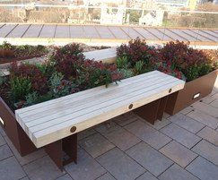 Benchmark Street Furniture - Exeter and timber bench