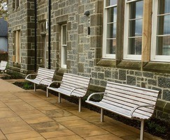 Hardwood street furniture - Charles Kennedy Building