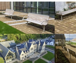 Stainless steel street furniture - Fort William