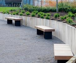 Hardwood timber benches