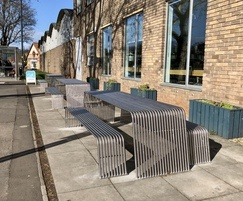 stainless steel picnic set benchmark street furniture