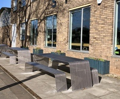 Contemporary picnic tables