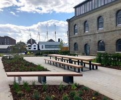 Seating and large outdoor table - Brandon Yard, Bristol