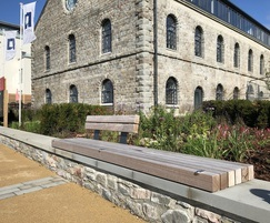 Wall-mounted seat - Brandon Yard, Bristol harbourside