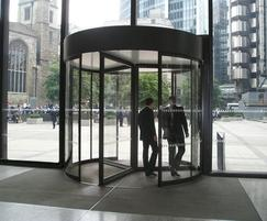 Tormax automatic revolving entrance at Aviva HQ
