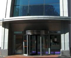 Tormax automatic revolving entrance at Ashford Gateway