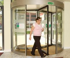 Tormax automatic revolving entrance at Hartlepool Colle