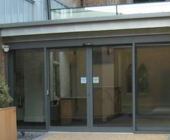 Automatic sliding door system from TORMAX, Rugby School