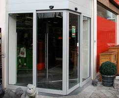 Angular sliding entrance system by TORMAX