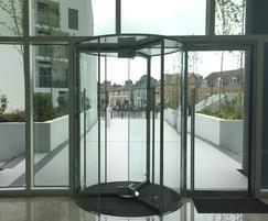 TORMAX revolving door to top residential development