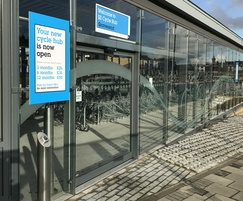 Automatic sliding door system from TORMAX for cycle hub