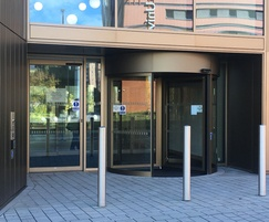 Automatic revolving entrance door from TORMAX