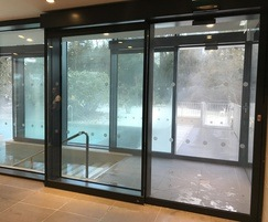 IP65 rated automatic door operator for pool area