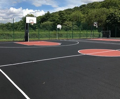 Basketball court at Millhouses Park, Sheffield