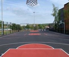Refurbished basketball court, Duchess Road, Sheffield